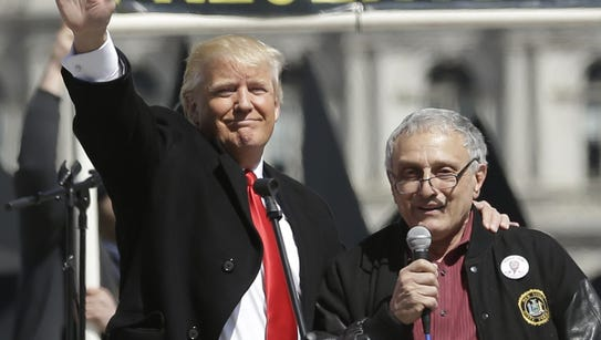 Donald Trump, left, and Carl Paladino, who ran for