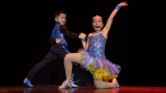 JP and Allyson perform during the Morris Educational Foundation's 9th annual Morristown ONSTAGE Talent Show at the Mayo Performing Arts Center. February 24, 2016. Morristown, N.J.