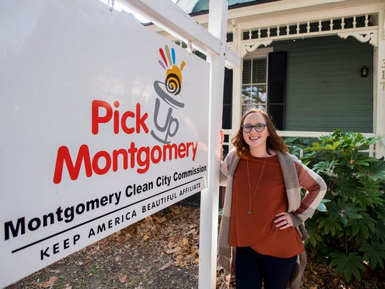 New Clean City Commission Executive Director Amanda Miller at her office in Montgomery, Ala. on Thursday November 16, 2017.