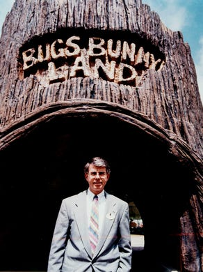 1994 Ray Williams Pres. of Six Flags Great Adventure in front Bugs Bunny Land