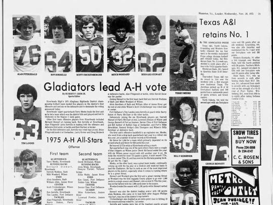 The News Leader story on the 1975 all-Alleghany Highlands
