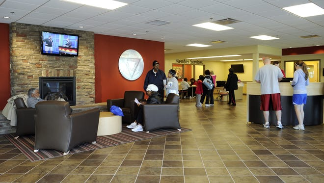 The lobby area of the Northwest Family YMCA in Nashville. The facility was renovated in 2011.