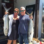 To the anglers delight, bluefish are still running