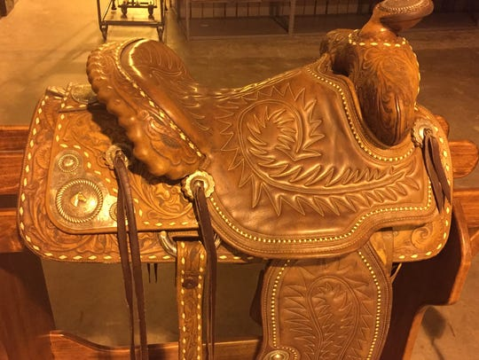 Gov. Jimmie Davis' saddle is among the items stored