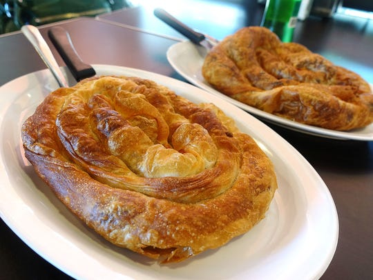 Burek, a meat-filled pastry, at Balkan Bakery in Phoenix.