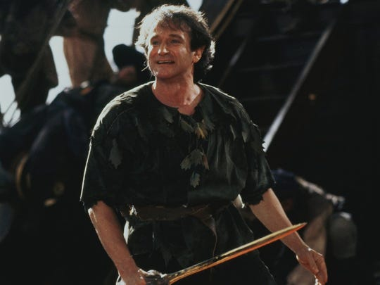 "Robin Williams was Peter Pan in the film ""Hook."""