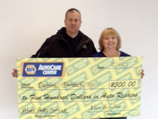 Dave Edwards, left, owner of Abe's Auto Service and