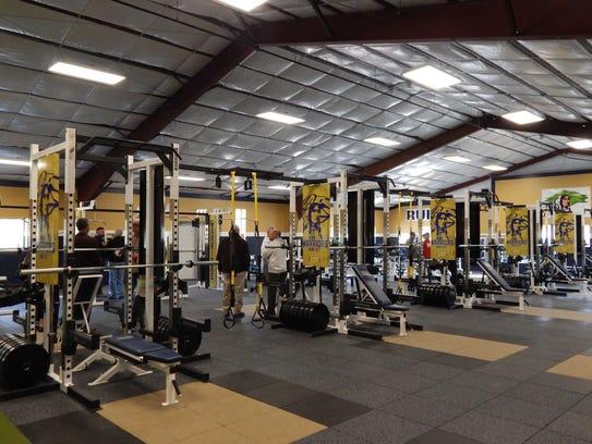 A look inside Ruidoso High School's new weight room.