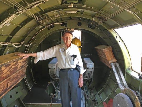 Tim Kiniry, 95, of Minotola, a World War II veteran,