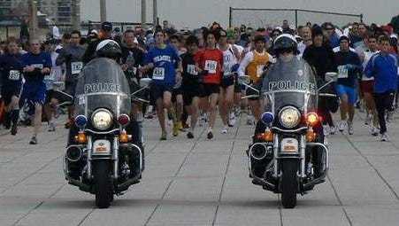 Long Branch Police officers in lead at 5K start