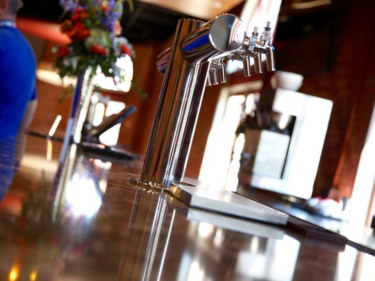 The finishing touches on the new bar are still to be added at Geva Theatre, during its renovations.