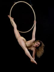 Aerialist will perform at the Shrine Circus in Sheboygan on May 30.