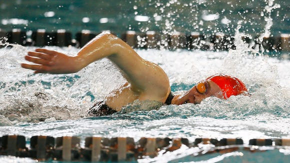 Morristown's Grace Miller swims the girls 200-yard