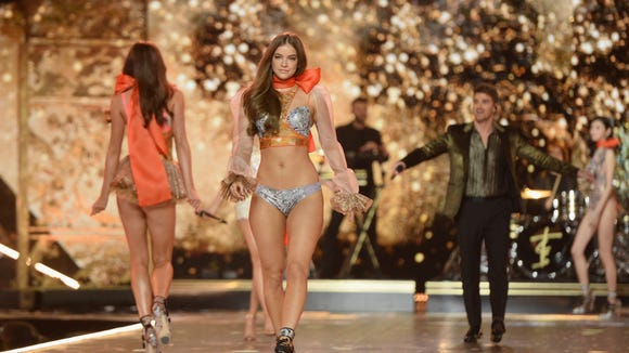 cdaaeebc0b Barbara Palvin walks the runway during the 2018 Victoria s Secret Fashion  Show at Pier 94 on