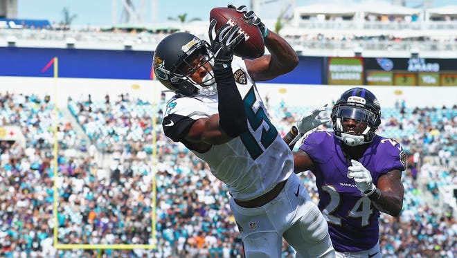 Orchard Lake St. Mary's grad Allen Robinson has 48 catches for 549 yards and five touchdowns for the Jaguars this season.