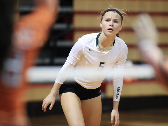 Lincoln High sophomore Katie Seccombe will play a key role for the Trojans as an outside hitter this season, along with juniors Callie Workman and Madison Fitzpatrick.