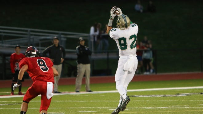 Howell's Logan Russo has 31 catches for 606 yards and a record-tying 10 touchdowns.