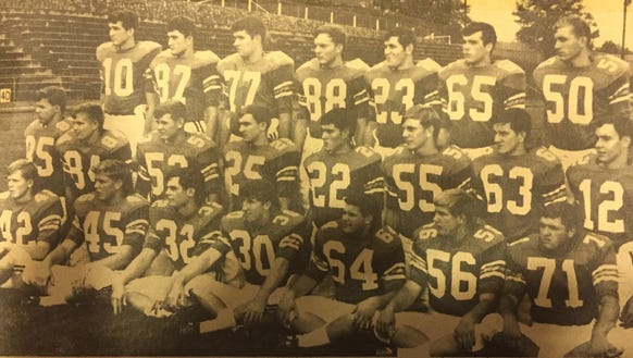 The senior members of the 1967 Easley team led the