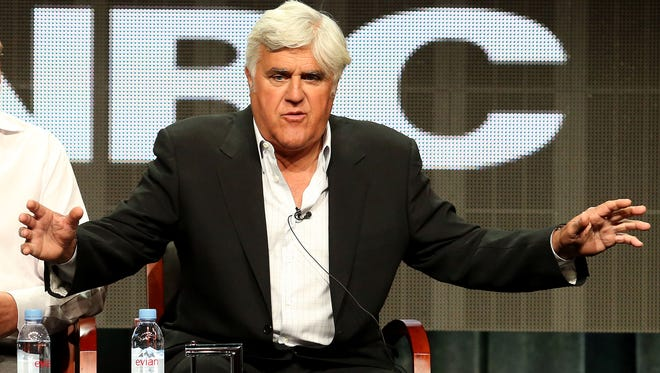 Jay Leno at 2015 Summer Television Critics Association Press Tour in Beverly Hills, on Aug. 13, 2015.