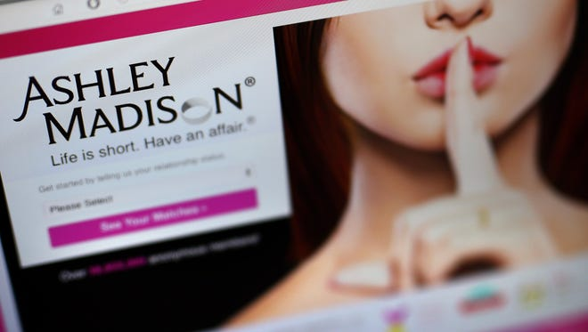 A detail of the Ashley Madison website on August 19, 2015 in London, England.