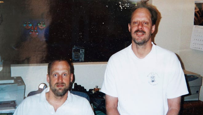 This undated photo provided by Eric Paddock shows him at left with his brother, Las Vegas gunman Stephen Paddock at right. Stephen Paddock opened fire on the Route 91 Harvest Festival on Sunday, Oct. 1, 2017, killing dozens and wounding hundreds.