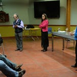 Fort Collins legislators, Sen. John Kefalas and Reps. Jeni Arndt and Joann Ginal answer questions at New Belgium in this December 21, 2015, file photo. The three will hold their January legislative update Feb. 13 at the Old Town Library.
