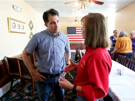 Republican presidential candidate Wisconsin Gov. Scott
