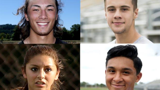Clockwise from top left: Tanner Earhart, Stuart Aeschliman, Sebastian Ruelas, Brianna Anaya