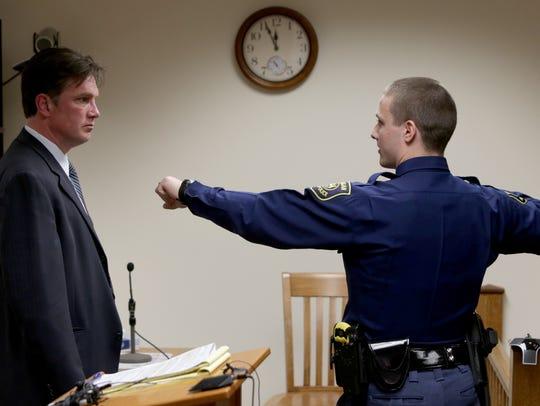 (L to R) Rick Steiger, lawyer for Larry Sevenski, 83,