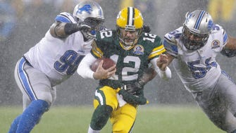 Aaron Rodgers (12) will lead a Packers franchise that hasn't dropped a home game to the Lions since 1991. (Dan Powers, Gannett Wisconsin Media)