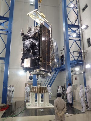 In March 2016, the GOES-R satellite recently completed acoustics testing at Lockheed Martin in Littleton, Colorado. Acoustics testing uses high-intensity horns to subject the satellite to the extreme sound pressure that simulates the noise created when the rocket is launched.