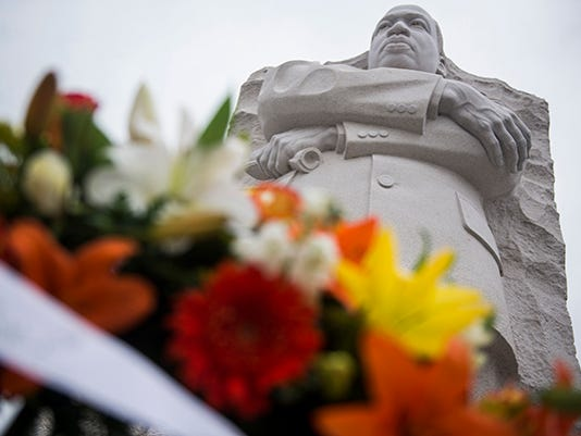 Visitors Pay Their Respects On Martin Luther King Jr. Day At Memorial To MLK