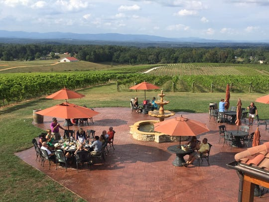 The Raffaldini Vineyards tasting room patio offers a great opportunity to enjoy wine and vineyard views.