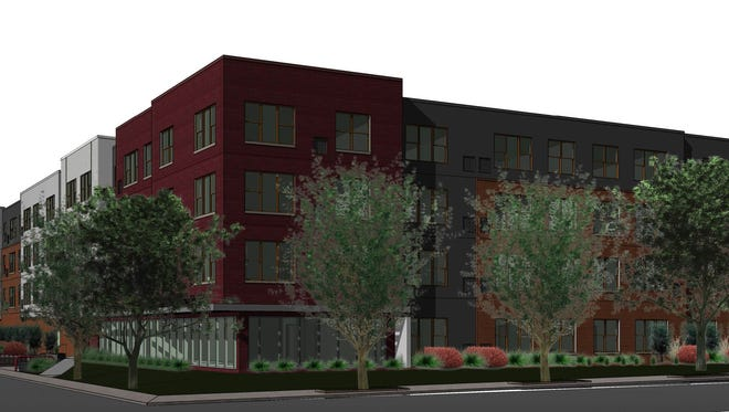 Developer Sherman Associates has broken ground on a 90-unit apartment project called The Edge at Gray's Landing on the south side of downtown Des Moines.