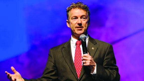 Rand Paul blue background