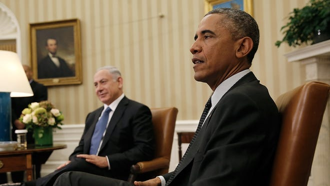 President Obama, right, meets with Israeli Prime Minister Benjamin Netanyahu in the Oval Office of the White House on Oct. 1, 2014, in Washington.