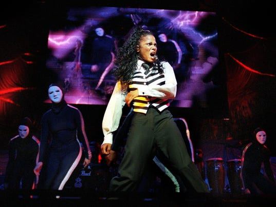 Janet Jackson in concert at Bradley Center