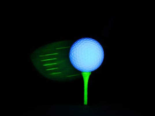 Golf Ball on Tee Isolated