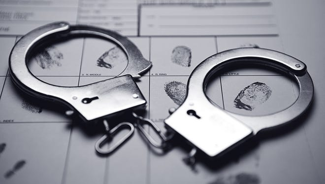 Pair of handcuffs.
