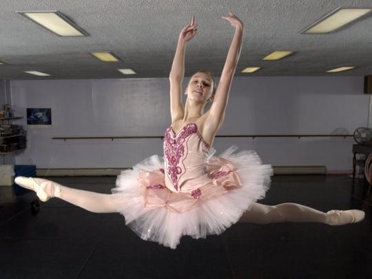 Devon Teuscher, 15 when this photo was taken in 2004, was one of 25 students nationwide to earn a scholarship to the Jacqueline Kennedy Onassis School at American Ballet Theatre in New York City.