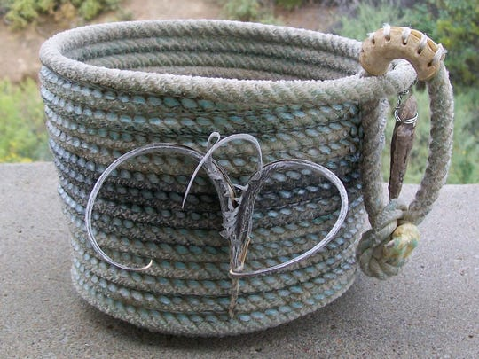 Mulimedia basketry by Mike Shalett will be featured in the Artists of Picacho Avenue sixth annual Holly Day House on Saturday and Sunday at West End Depot, 401 N. Mesilla St.