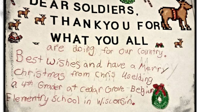Ozaukee County Sheriff James Johnson recently found this letter written in 2003 by 4th grader Chris Uselding, who now works for Johnson in the Ozaukee County Sheriff's Office.