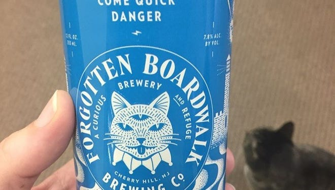 Come Quick Danger is a new Imperial IPA from Forgotten Boardwalk, now available in cans.