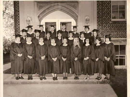 Manitowoc County Teachers' Training College graduating class of 1971 (last class).