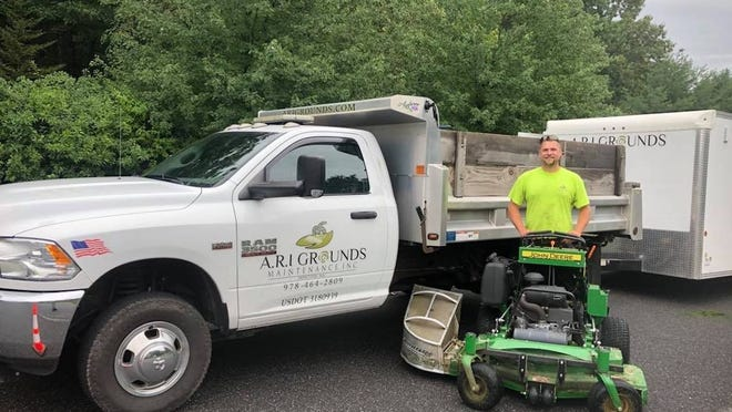 Owner Ryan Inguini of A.R.I. Ground and Maintenance Inc. stands ready to get to work.