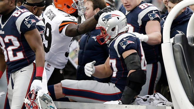 Patriots TE Rob Gronkowski suffered both ACL and MCL injuries earlier this month and saw his season end.