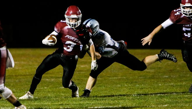 Logan Lefke and Portland are ranked No. 5 in Division 5 in the latest Associated Press state football poll.