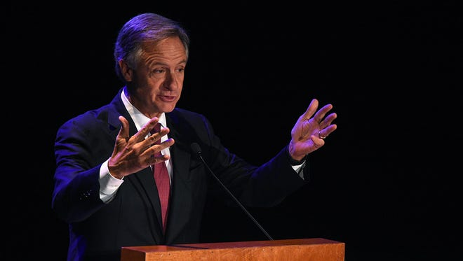 Gov. Bill Haslam speaks Tuesday, Jan. 26, 2016, at the Nashville Area Chamber of Commerce 2016 Governor's Address at the Country Music Hall of Fame and Museum.