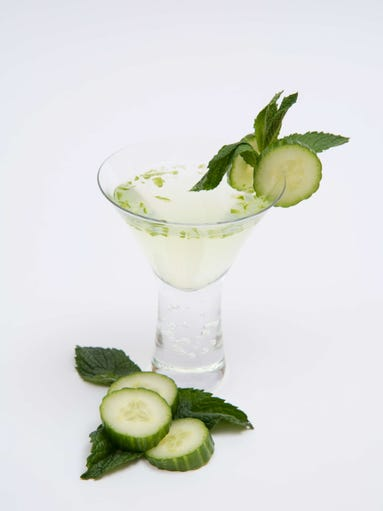 Melon and Cucumber Martini