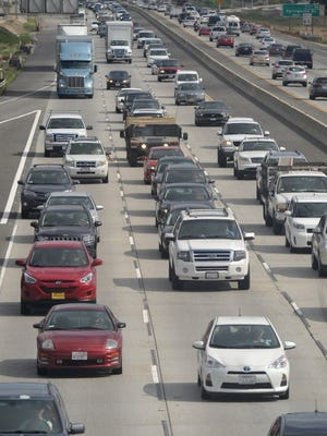 STAR FILE PHOTO Traffic crawls on Highway 101 in Camarillo.